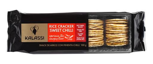 Biscoito de Arroz Cracker Sweet Chili Kalassi
