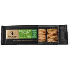 Biscoito de Arroz Cracker Sour Cream & Onion Kalassi